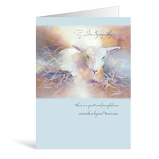 Lamb Sympathy Greeting Card