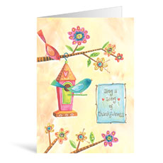 Birdhouse Thank You Greeting Card