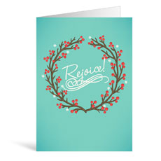Christmas Rejoice Greeting Card