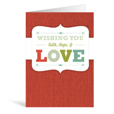 Christmas Love Greeting Card