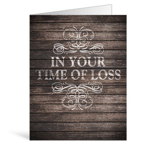 Rustic Charm Loss Greeting Cards