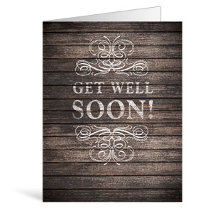Rustic Charm Get Well Greeting Cards