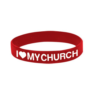 I Love My Church Wristband SpecialtyItems