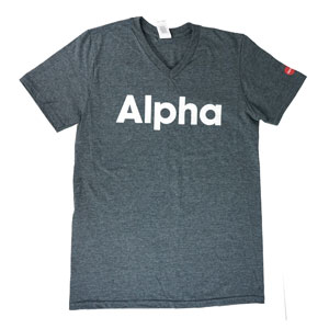 Alpha V-neck T-shirt Small Alpha Products