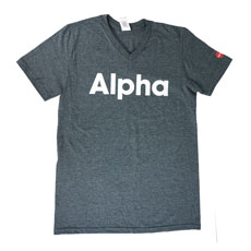 Alpha V-neck T-shirt Small