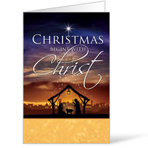 Christmas Begins Christ Bulletins