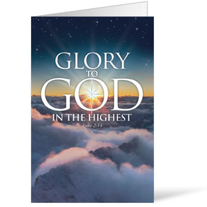 Glory To God  8.5 x 11 Bulletins 8.5 x 11