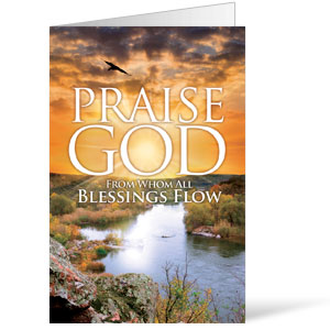 Blessings Flow  8.5 x 11 Bulletins 8.5 x 11