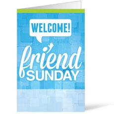 Friend Sunday Welcome Bulletin