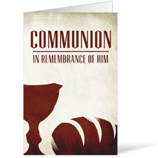 In Remembrance of Him Bulletin