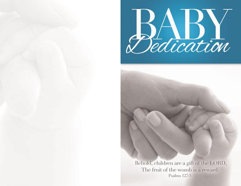 church bulletin   baby dedication 8 5 x 11   outreach