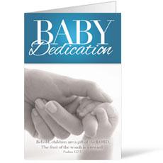 Baby Dedication Bulletin