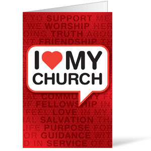 I Love My Church Bulletins 8.5 x 11