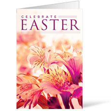 Celebrate Easter Flowers Bulletin