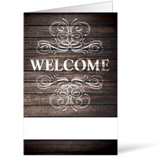 Rustic Charm Welcome Bulletin