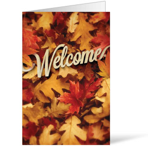 Welcome Leaf Pile 8.5 x 11 Bulletins 8.5 x 11