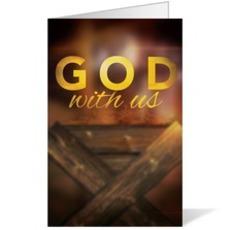 God With Us Manger Bulletin