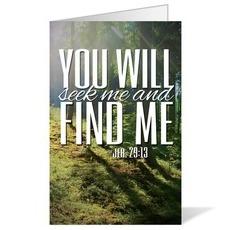 Scenery Scripture Jer 29:13 Bulletin