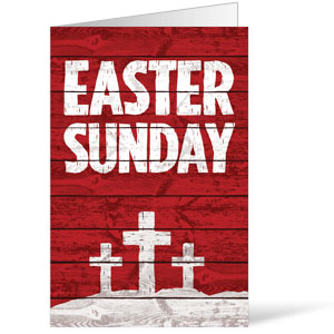 Easter Wood Red Bulletins 8.5 x 11