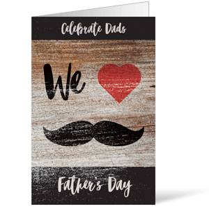 Fathers Day Mustache Bulletins