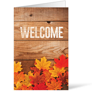 Welcome Fall Leaves Bulletins 8.5 x 11