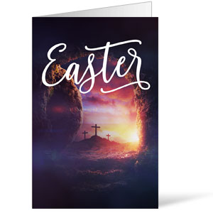 Dramatic Tomb Easter Bulletins 8.5 x 11