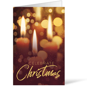 Celebrate Christmas Candles Bulletins 8.5 x 11
