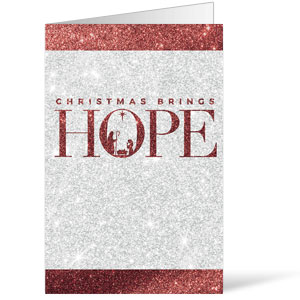 Christmas Brings Hope Sparkle Bulletins 8.5 x 11