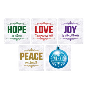 Silver Snow Christmas Set Handheld sign
