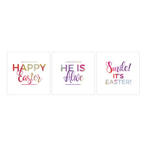 White Bright Petals Easter Set Handheld Signs