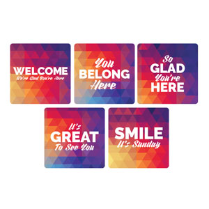 Geometric Bold Greeter Set Handheld sign