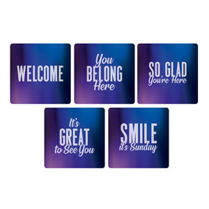 Aurora Lights Greeter Set Handheld sign