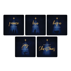 Christmas Star Hope is Born Christmas Set Handheld sign
