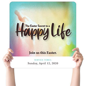 Happy Life Handheld sign