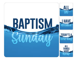 Aqua Baptism Set Handheld sign