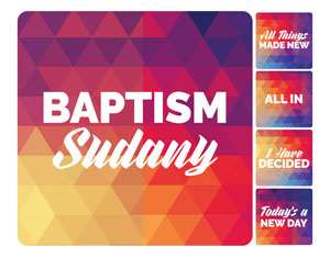 Geometric Bold Baptism Set Handheld sign