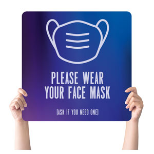 Aurora Lights Face Mask Handheld sign