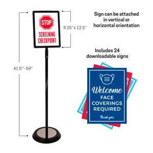 InfoSign Stand Signs and Stands