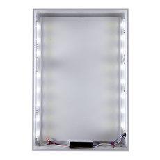 Quick Change Silver Backlit Frame Displays & Stands