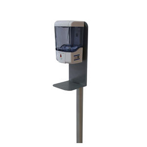 Small Touchless Automatic Hand Sanitizing Station Signs and Stands