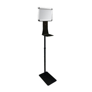 Adjustable Stand with Sign Holder for Touchless Dispenser Signs and Stands