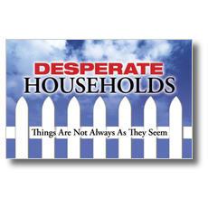 Desperate Households Postcard