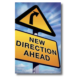 New Direction Ahead Postcards