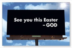 Easter Billboard Postcard