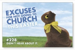 Bunny Excuse Church Postcards
