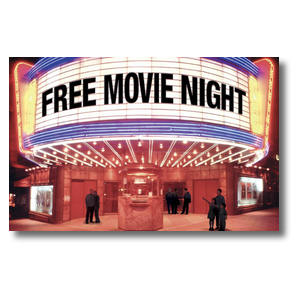 Free Movie Night Postcards