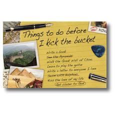 Bucket List Postcard