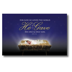 John 3:16 Christmas Church Postcards
