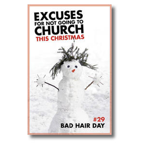 Excuses Bad Hair Church Postcards