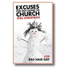 Excuses Bad Hair Postcard